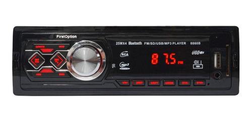 Som Automotivo First Option 8860b Com Usb, Bluetooth E Leitor De Cartão Sd