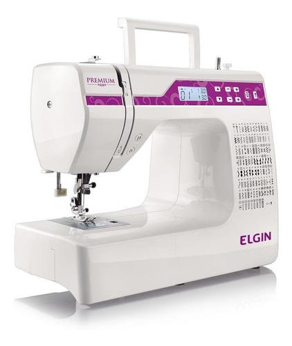 Máquina De Costura Elgin Premium Jx-10000 Bivolt Branca/rosa