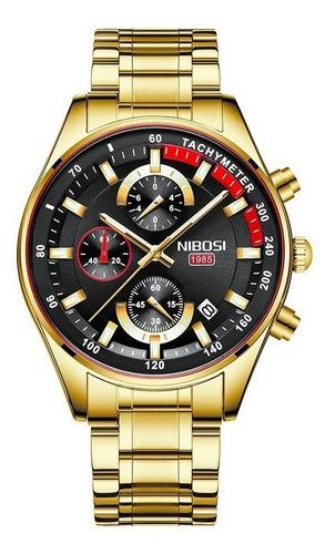 Relógio Nibosi 2375 Masculino Luxo Original Pronta Entrega