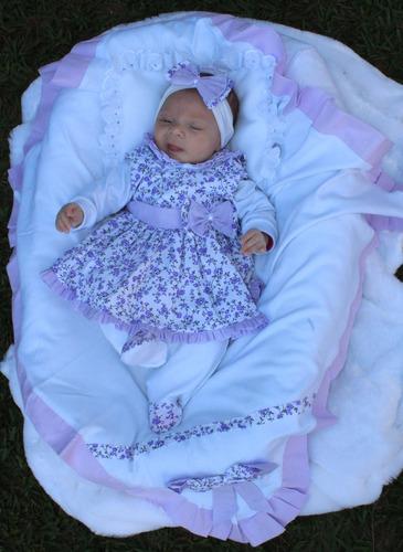 Saída De Maternidade Menina Lilás Linda 5 Peças