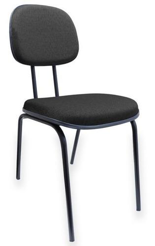 Cadeira De Escritório Fixa Base Palito Reta Espuma Injetada
