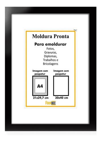 Porta Certificado A3 30x40 Diploma Quadro Foto Com Vidro