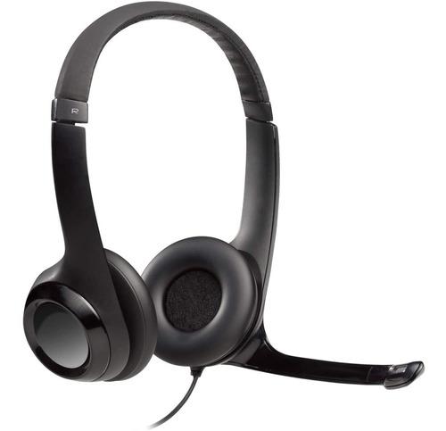 Logitech H390  Headset Usb Voip Microfone Volume Pc Notebook