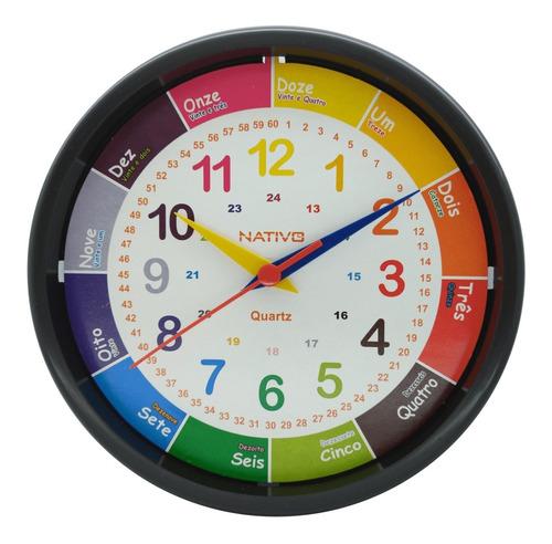 Relogio Educativo Diferente Parede Aprenda Horas Brincando