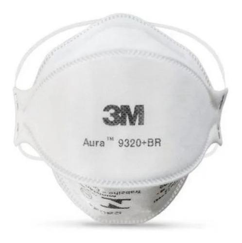 Mascara Respirador Pff2 S/ Valv Aura 3m 9320 N95 10 Uni