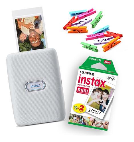 Impressora Instax Mini Link Smartphone + Filme + Brinde