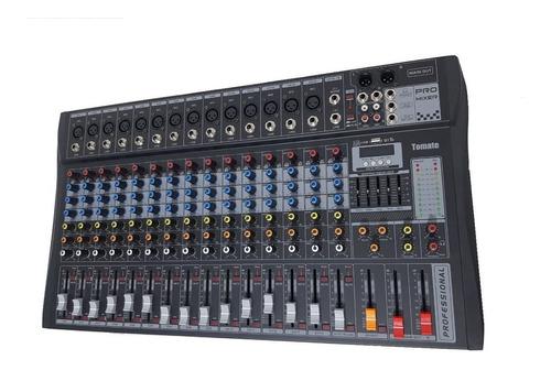 Mesa Som 16 Canais Visor Digital Mp3 Player Bluetooth Cultos