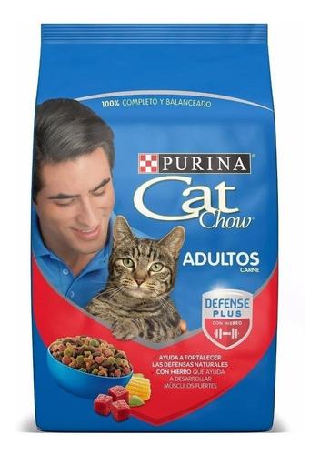 Alimento Cat Chow Para Gato Adulto Sabor Carne En Bolsa De 15kg