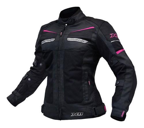Jaqueta Casaco Blusa X11 Breeze Feminina Rosa Moto A Vista