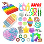 Simples Dimple Pop Brinquedos Fidget It 33pcs Presente