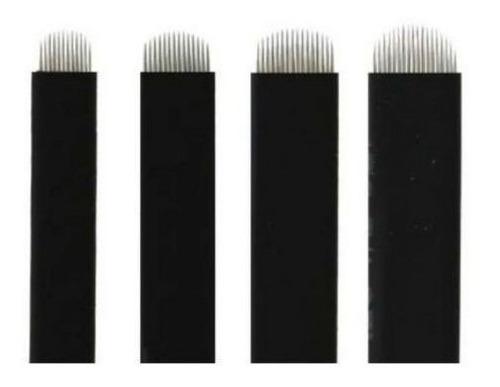 Laminas Nano Tebori Microblading U Flex 0,18mm Fine Black 10