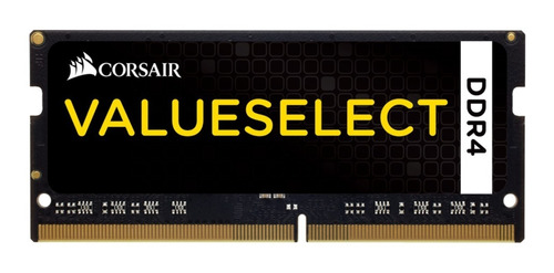 Memória Ram Value Select Color Preto  8gb 1x8gb Corsair Cmso8gx4m1a2133c15
