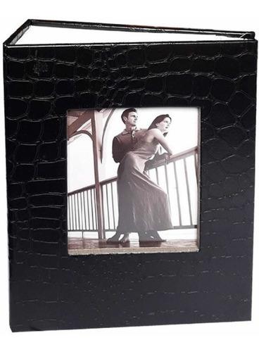 Álbum 10x15 P/100 Fotos-couro Sintético C/porta Retrato Capa