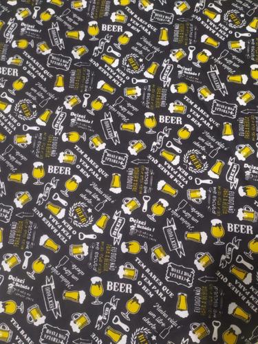 Tecido Tricoline 100% Algodão 1x1,50m Beer