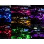 Fita Led Luz Interna Neon Painel Carro 5m Tunning Rgb 64 Cor