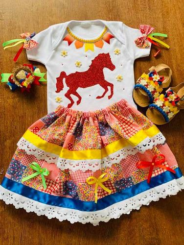 Fantasia Fazendinha Menina Bebê Mesversário Aniversário