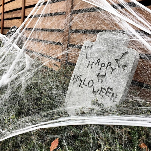 Decoração De Halloween Teia De Aranha Branca Melhor Preço Original