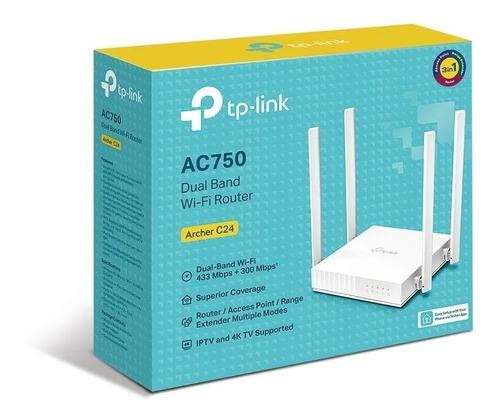 Router 4p Tp-link Archer C24 Ac750 De Doble Banda
