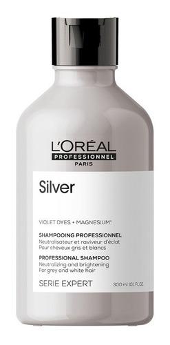 Shampoo Loreal Silver Matizador 300ml Grises, Blancos, Canas