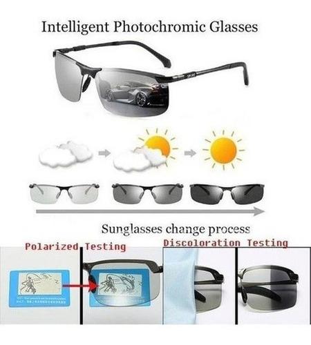 Óculos De Sol Fotocromáticos Camaleão Polarizado Masculino