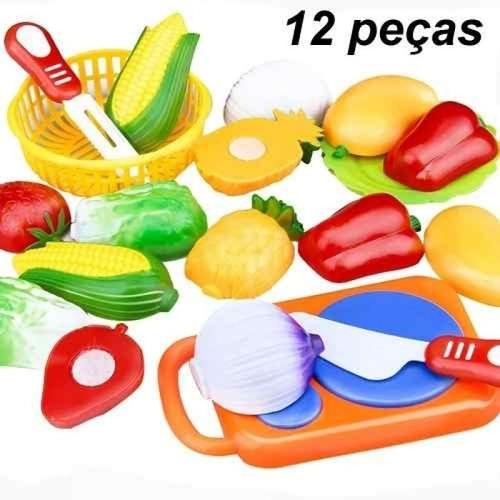 Comidinha Fruta De Cortar Com Velcro Brinquedo Crec Crec