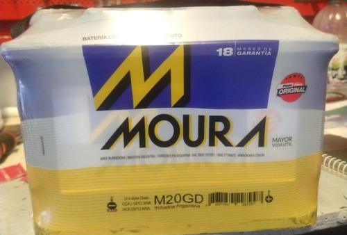 Batería Moura 12x65 Vehículos Nafta M20gd