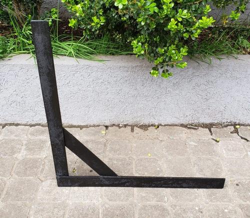Mensula Hierro Industrial Estante Mesada Reforzada 60cm