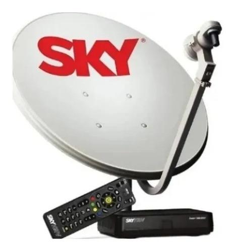 Kit Sky Conforto Livre Antena De 75 Cm 2 Anos De Canal Abert