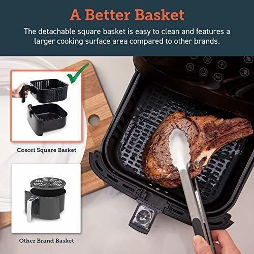 Air Fryer 100 Recipes 5.8 Quart 1700 Watt Led - Ecart