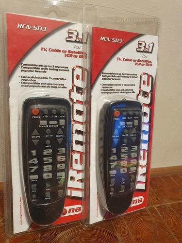 Control Remoto Universal De Tv, Cable Dvd, 3 En 1 V. Urquiza