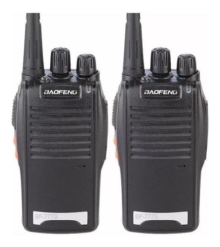 2 Rádio Comunicador Baofeng 12km Walk Talk 16 Canais Bf 777s