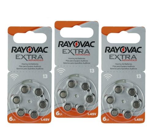 18 Pilas Para Audífono #13. Rayovac Extra Originales 1.45 V