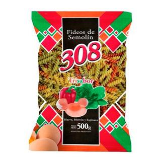 Fideos Semola Tirabuzon 500g 308 Trisabor Pasta 3 Sabores