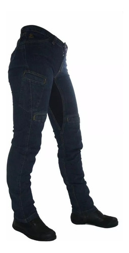 Calça Jeans Feminina Com Proteção Moto Hlx Penelope Confort