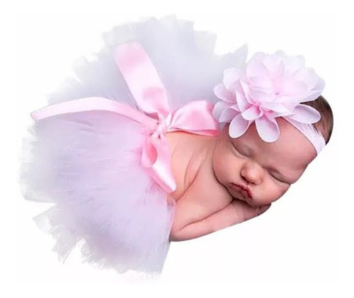 Saia Tutu Bailarina+tiara De Brinde Foto Newborn Mesversário