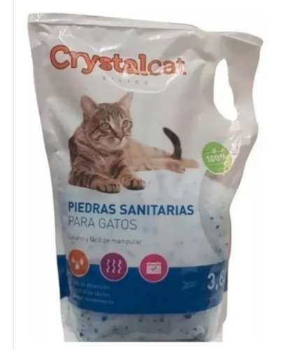 Gel Silica Sanitario P/gatos 3.8 Litros + Envío Gratis