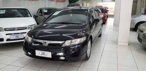 Honda Civic 1.8 Lxs Mec. Preto 2008 Flex