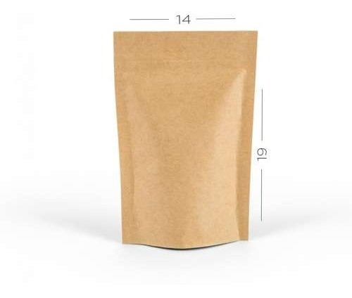 Saco Zip Standup Pouch Kraft 17 X 23,5cm 100 Und