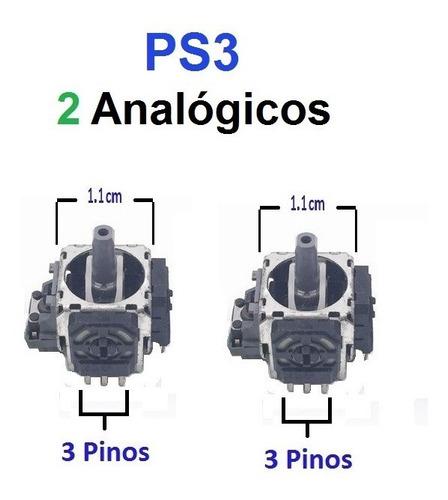 2 Analógicos 3d Ps3 - 3 Pinos