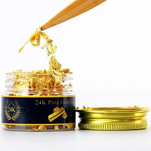 Hojas De Oro Comestibles, 10 Hojas De 1.7 In De Lámina