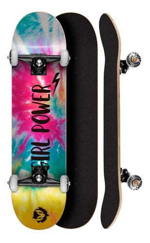 Skate Montado Profissional Cisco Feminino Tie Dye 8.0 Abec 5