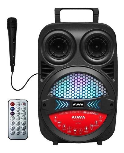 Parlante Aiwa Party Aw-p240d Portátil Con Bluetooth Negro 110v/240v