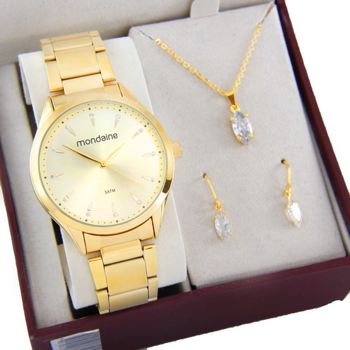 Relógio Mondaine Feminino Dourado 76588lpmvde1