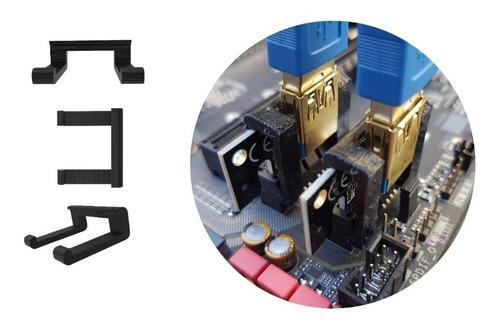 Combo 6 X Travas Clip Fixação Pci-e Riser Mineração Rig