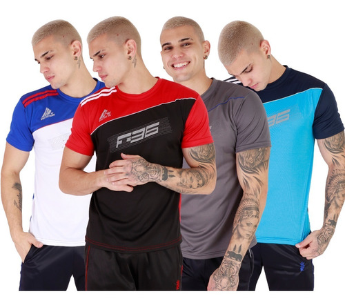 Kit 05 Camisas Masculina Elanca Dry Fit Esportes Academia,