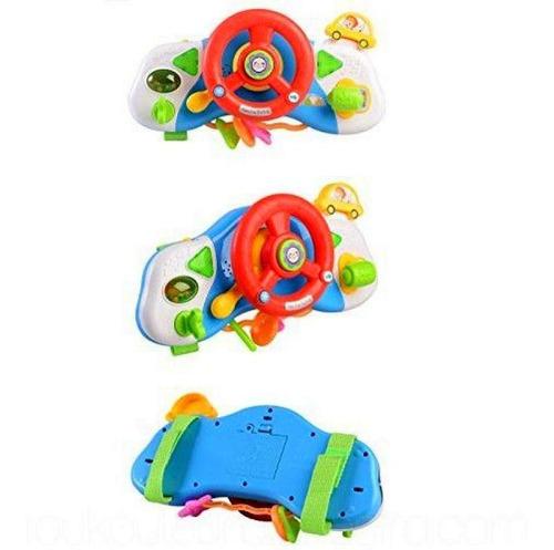 Brinquedo Educacional Volante Infantil Bebês Luz Música Seta