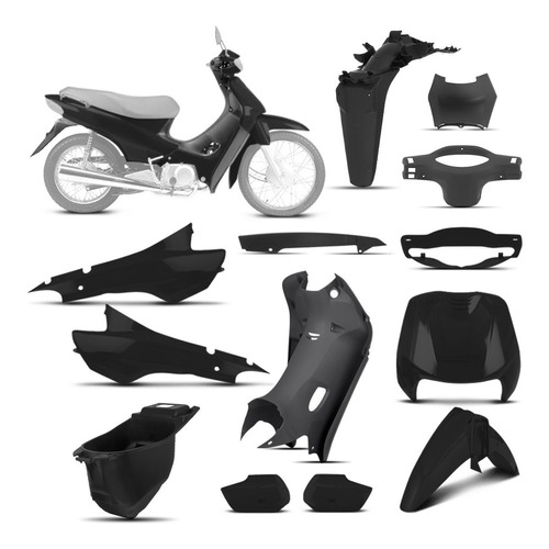 Kit Carenagem Completo Honda Biz 100 1998 Até 2005 Pro Tork
