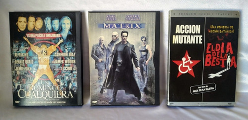 Dvds Originales - Matrix, Un Domingo Cualquiera Y Mas