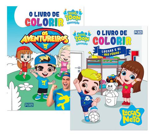 Kit Colorir Os Aventureiros+livro De Colorir Luccas E Gi