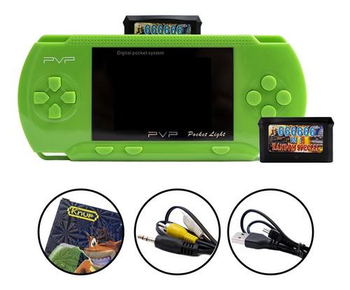Videogame Portátil Tipo Psp 8 Bit Com 2 Cartuchos De Jogos